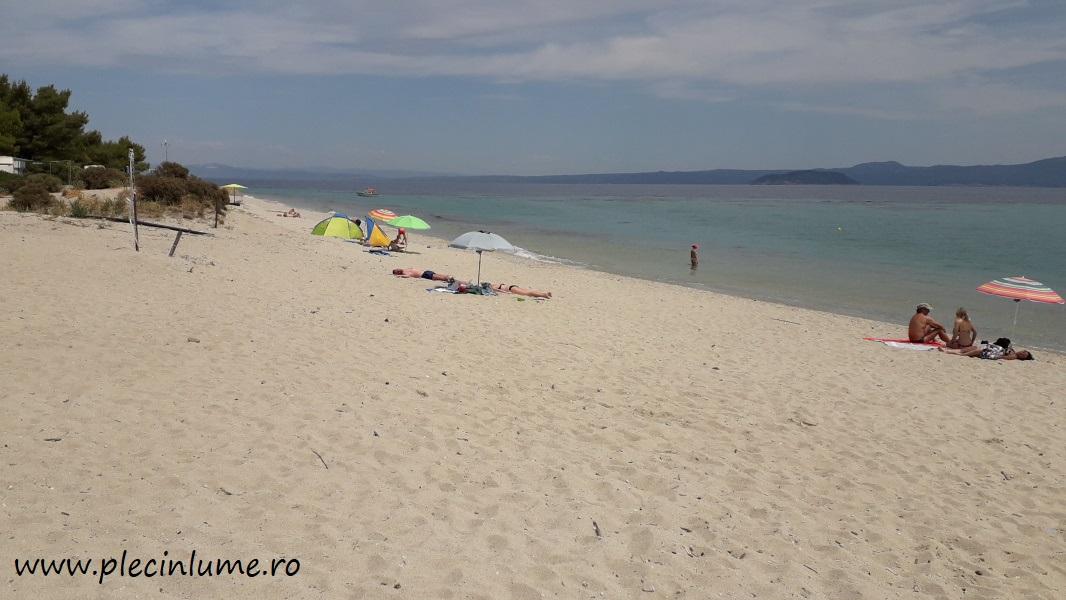 Golden beach din Kassandra, Halkidiki
