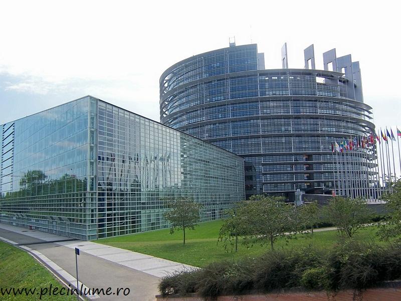 Parlamentul european din Strasbourg