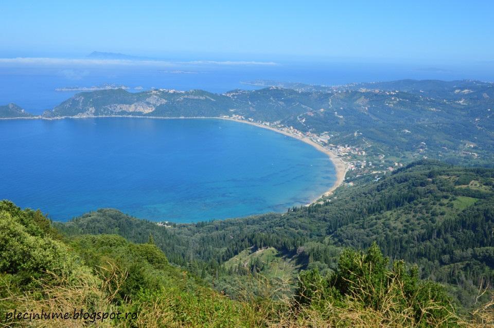 Vedere spre Agios Giorgios Nord, Corfu