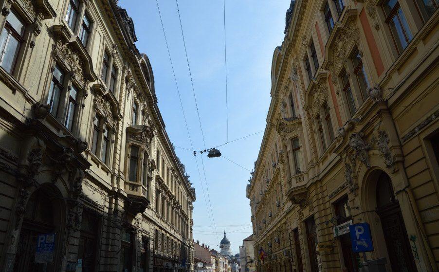 Strada in oglinda din Cluj Napoca