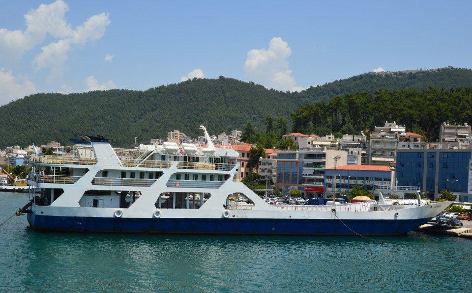 Feribot spre insula Corfu