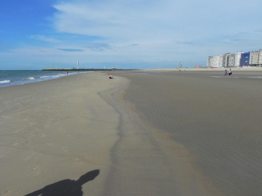 Plaja in Oostende Belgia