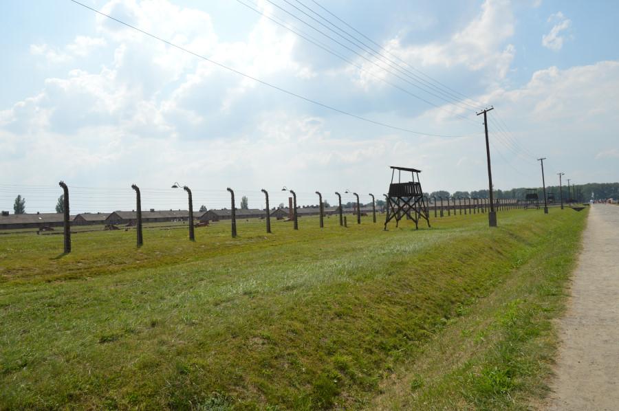 Gard de protectie la Auschwitz