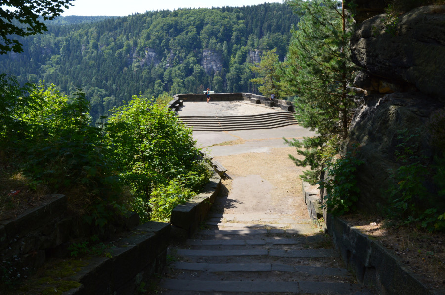 Punctul de belvedere din Labska Stran