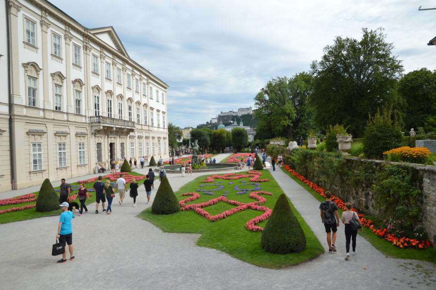 Mirabell gardens in Salzburg
